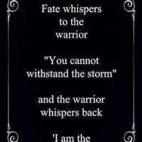 I Am The Storm Poem